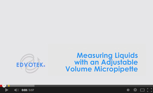 Measuring Liquids with an Adjustable Volume Micropipet